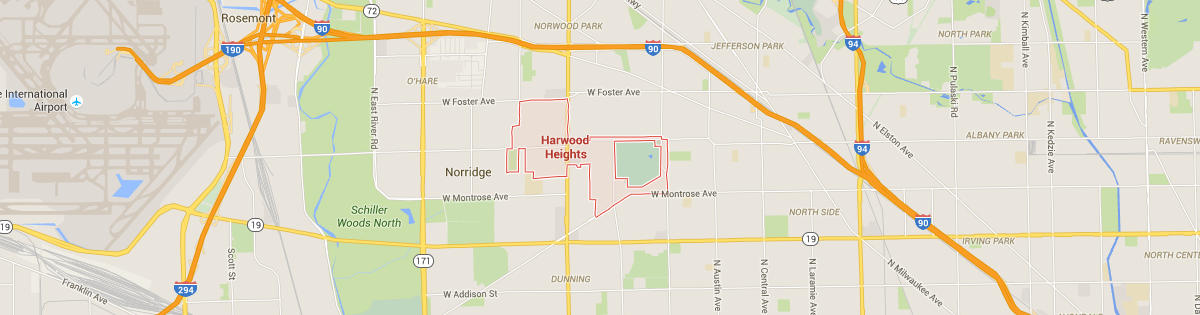 Harwood Heights Map