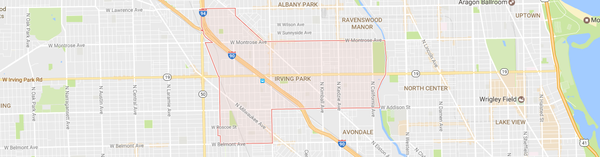 Irving Park Map